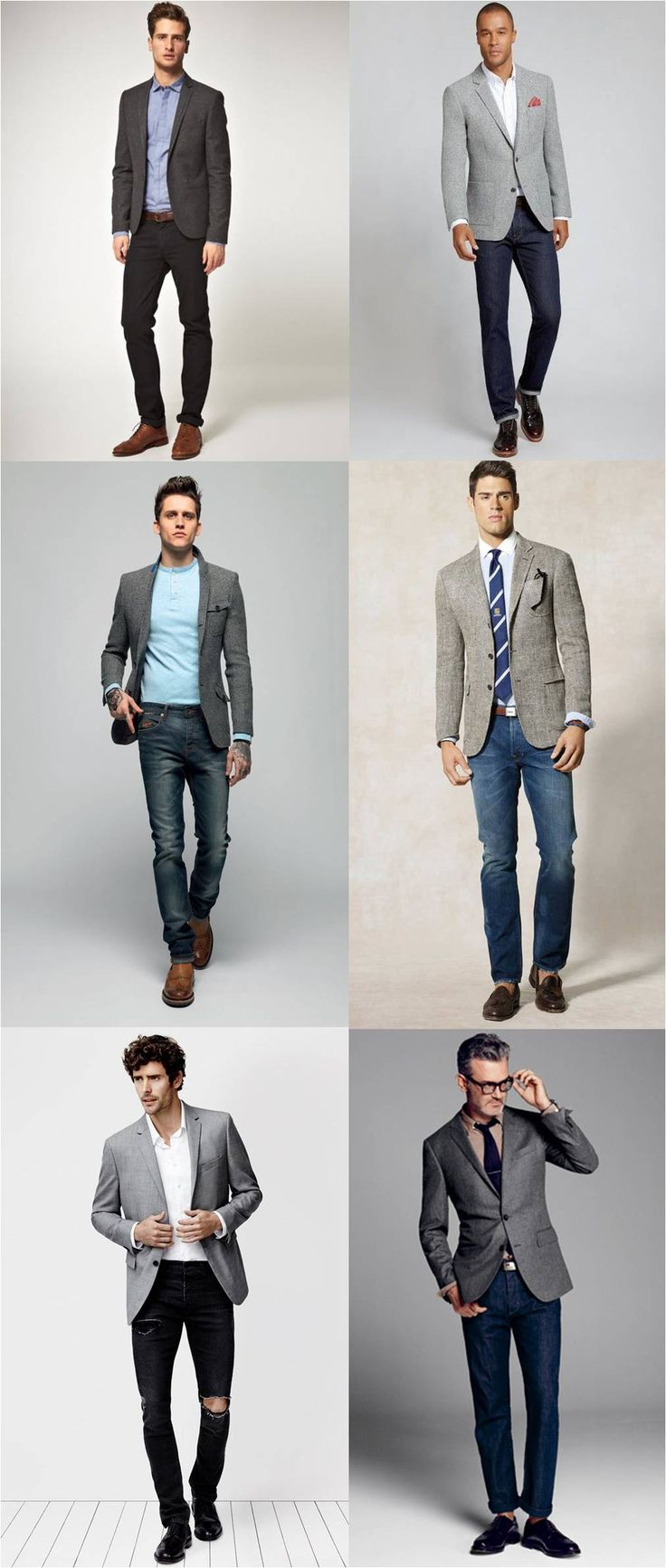 wear a suit jacket with jeans