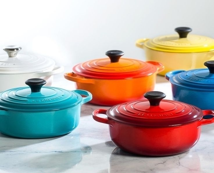 Brighten up your kitchen with the stunning color of Le Creuset Cast Iron. #LeCreuset #Cookware #DutchOven #EnameledCastIron