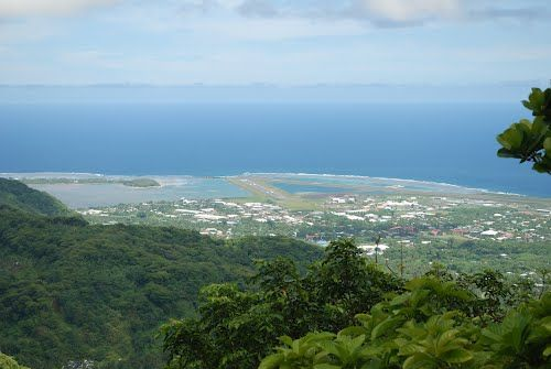 Looking down at the airport from Olotele ° Guide: Leone in American Samoa (Western District) | Tripmondo