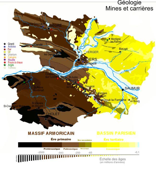 Géologie du Maine-et-Loire - carte