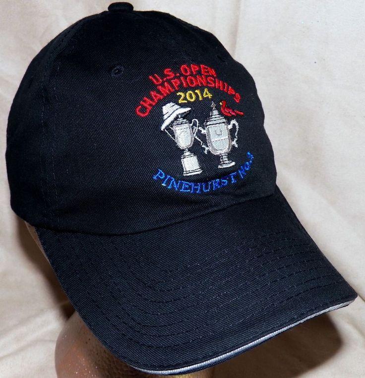 2014 US Open Golf Championships Pinehurst No2 USGA Member Black Baseball Hat Cap #USGA #BaseballCap