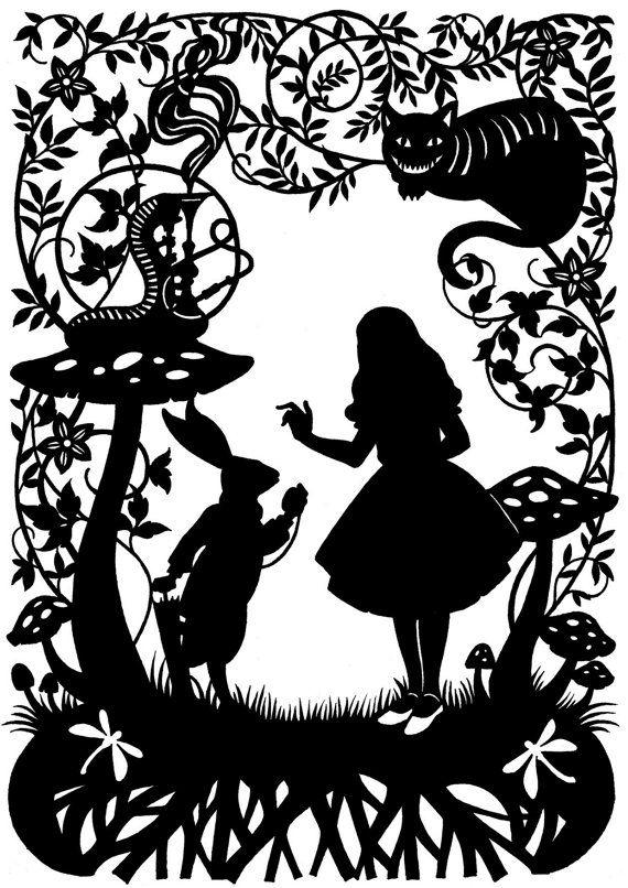 Alice au pays des merveilles découpage du papier