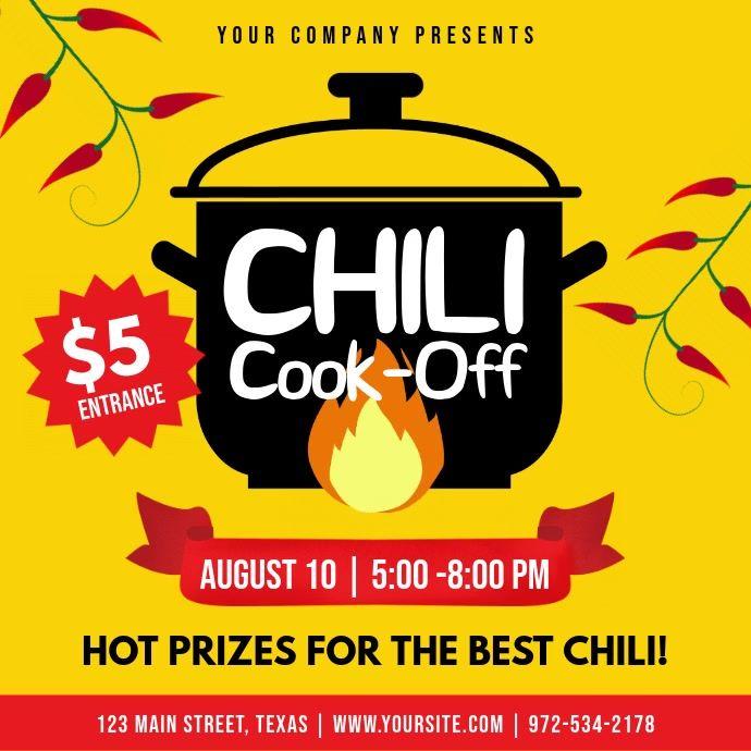 Yellow Chili Cook Off Contest Square Video Chili Cook Off Cook Off Cooking Contest