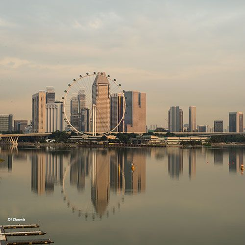 Sunrise shot of The Singapore Flyer... The largest observation Flyer out of the US