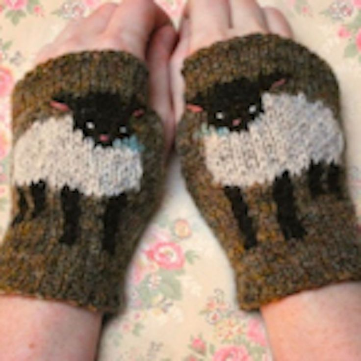 Plymouth Yarns Free Knitting Patterns : Tiny Owl Knits, Baby Lamb Cuffs, Pattern from Brooklyn General Store. Thing...