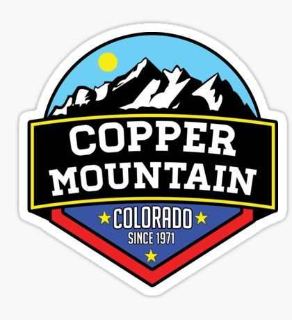 COPPER MOUNTAIN COLORADO Ski Skiing Mountain Mountains Skiing Skis Silhouette Snowboard Snowboarding 3 Sticker