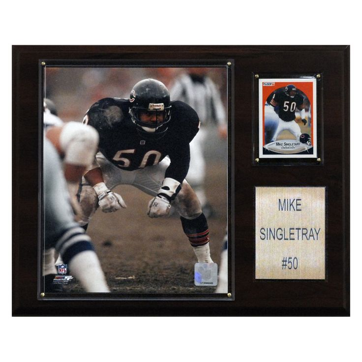 NFL 12 x 15 in. Mike Singletary Chicago Bears Player Plaque - 1215SINGLET