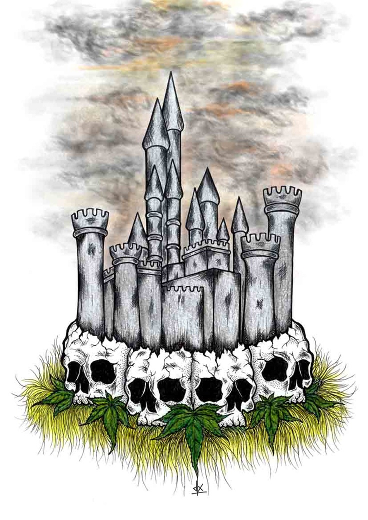 """Kingdom Of dreamer"" Pencil color & pen on paper A4 2011"