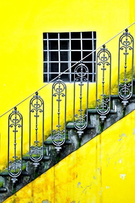 architecture & steps & stairs - Florence Yellow - by Emilio Lovisa