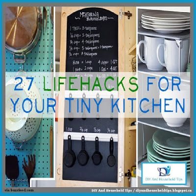 DIY And Household Tips: 27 Lifehacks For Your Tiny Kitchen