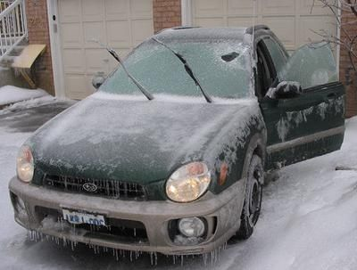 It is easy to make homemade deicer that you can use for helping to clean off your car on snowy mornings.  Here is an easy recipe and instructions for how