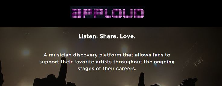 Musicians need money to promote their art. Unfortunately these days, the life of a musician can be a little hard. But don't worry apploud will help you.
