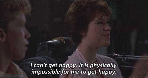 Sixteen Candles Turns 30! Molly Ringwald's character as Samantha Baker can definitely make a girl relate to the awkwardness.
