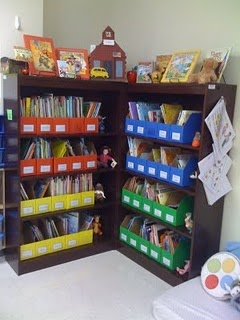 I need to get shelves and baskets to organize my classroom library