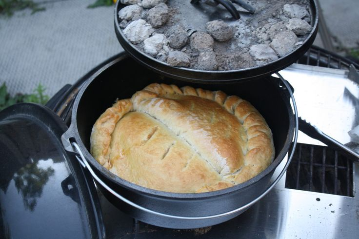 Dutch Oven Calzone…  Great camping meal