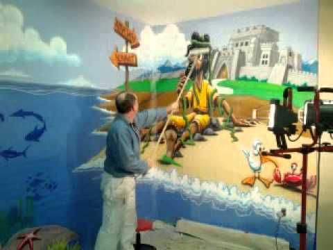 Jonah Airbrush Mural Youtube Jerry S Art Kids Church