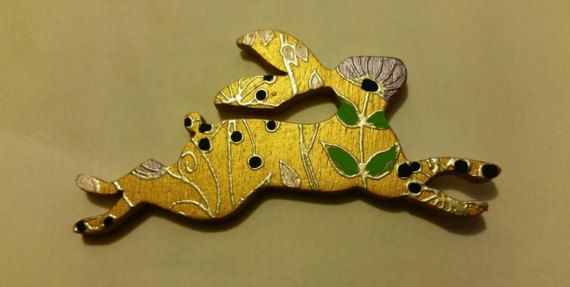 Check out this item in my Etsy shop https://www.etsy.com/uk/listing/514953805/gold-coloured-wooden-hare-rabbit-brooch