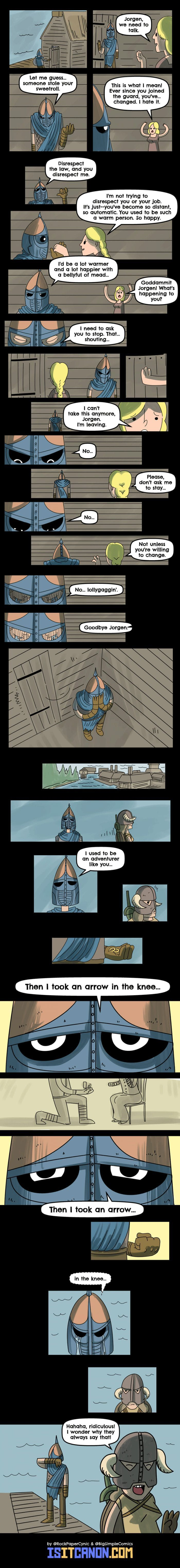 Now when I play to skyrim and I see a guard... I think about this