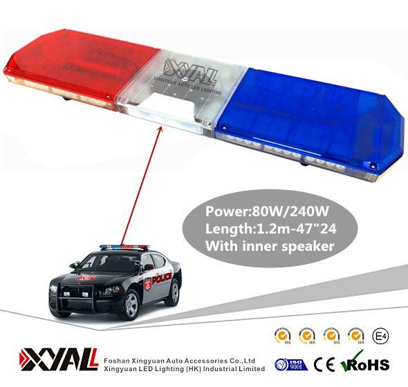 "47"" 72 LED Dual Color Police Traffic Emergency Car Top Roof Warn Flash Roof Strobe LightBar"