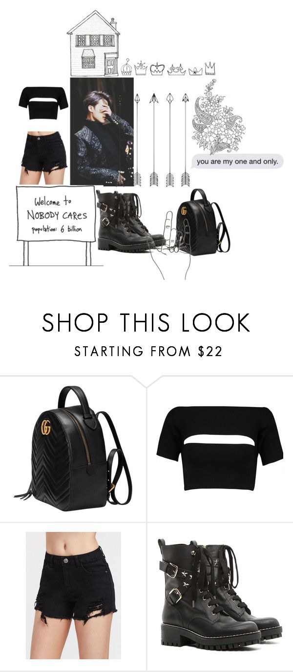 """""""Untitled #232"""" by melanie-abradam ❤ liked on Polyvore featuring Gucci, T By Alexander Wang and RED Valentino"""