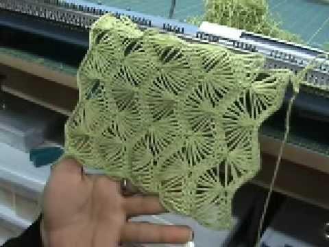 Machine knit fan lace (video)
