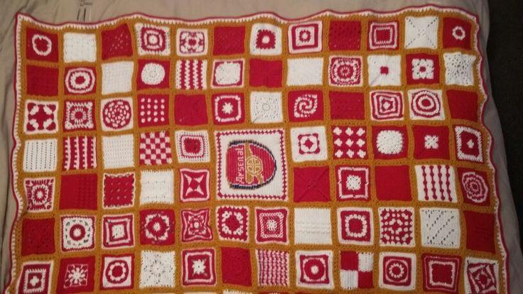 Arsenal fc crochet blanket