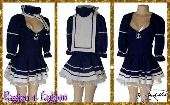 Navy costume dress with a scarf accesorry and hat. #mariselaveludo #costumewear #dressup #costumedress #inthenavy #passion4fashion