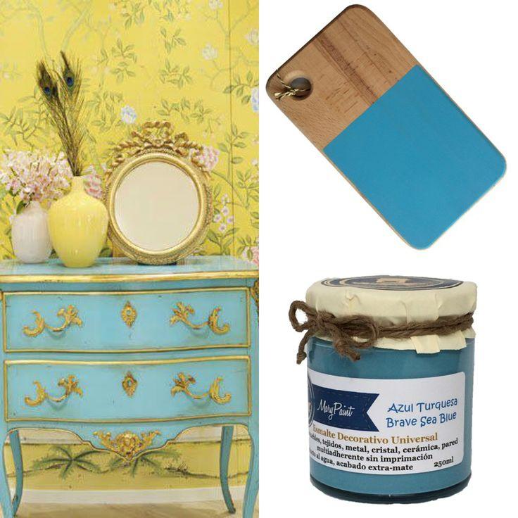 Pintar muebles de Azul Turquesa