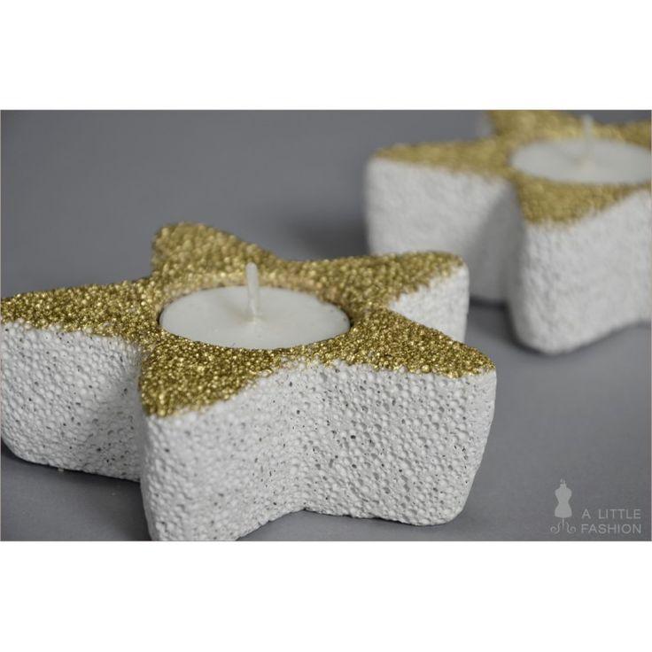 Sternfrmige Kerzenhalter Aus Porenbeton Ytong 2er Set