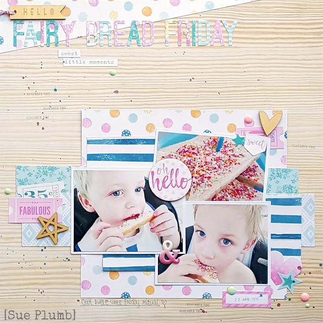 Scrap the Boys Challenge October 2016 | Sue Plumb (Using Cocoa Vanilla Studio Make a Wish collection)