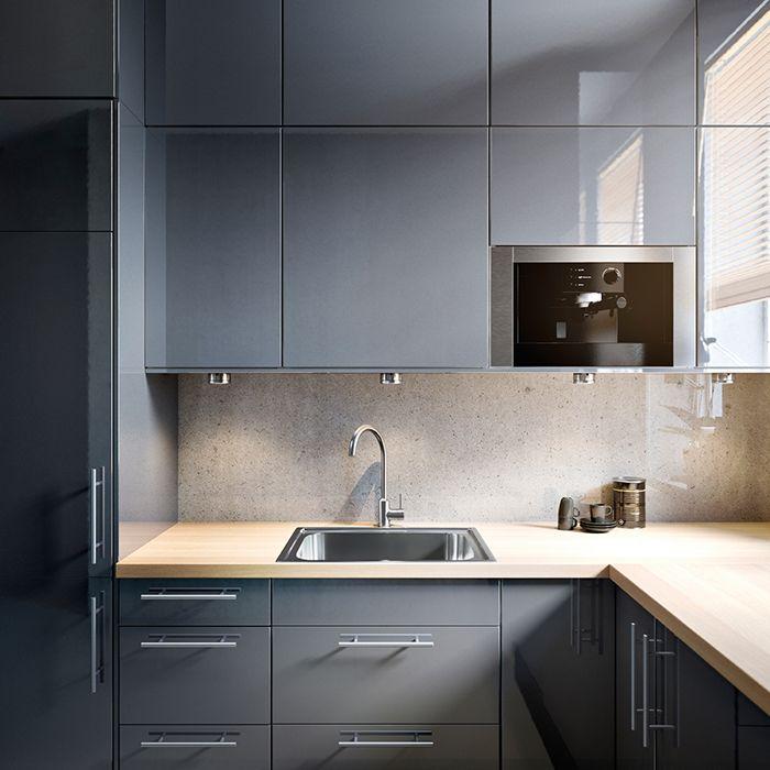 Cocina 3d ikea cocina con isla central cocina mueble a for Cocinas a medida ikea