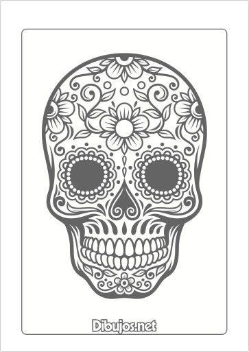 8 Dibujos del Día de los Muertos para Imprimir y Colorear - Dibujos ...