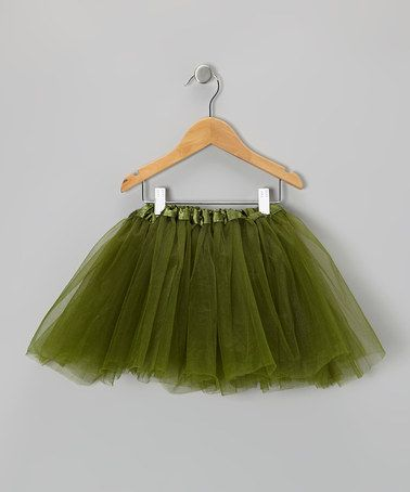 Take a look at this Olive Green Tutu - Toddler & Girls by Just For Girls on #zulily today!
