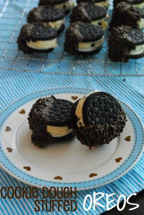 cookie dough stuffed oreo cookies