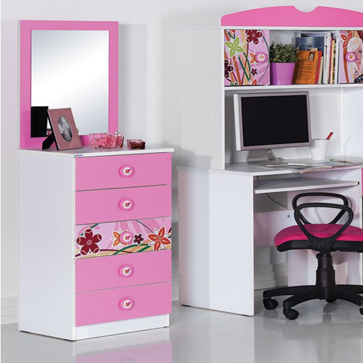 Chambre Fille Rose Et Taupe. Awesome Commode Coiffeuse Fille ...