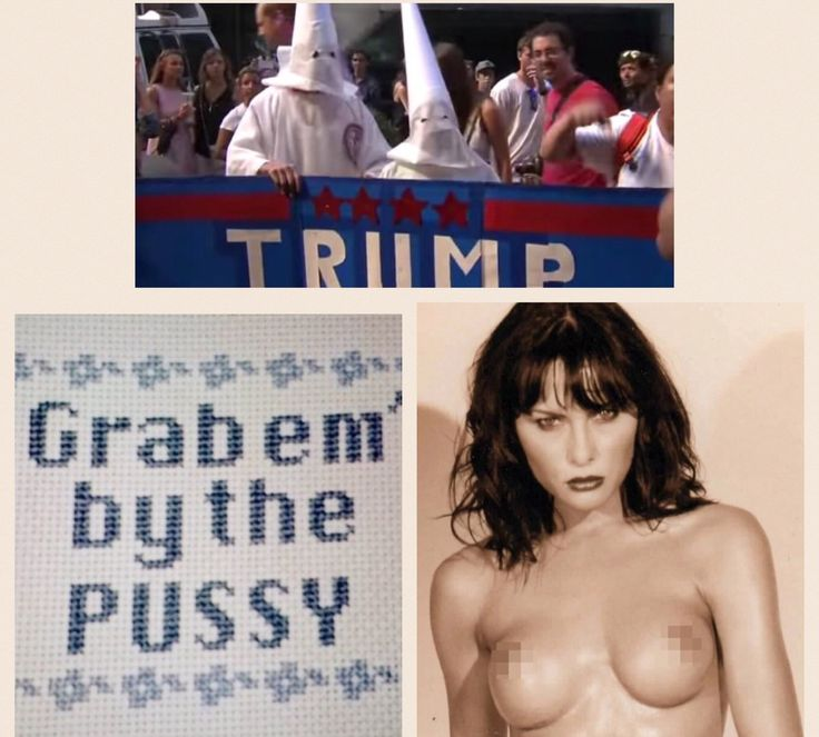 "In the America I grew up in, these 3 pictures would have sealed Trumps fate to be President of the U.S. Just Imagine:: Would Barrack Obama had been elected if we knew (and heard) him say ""GRAB EM' BY THE PUSSY?"" Would Michelle Obama been Our First Lady if she had ""NUDE PICTURES"" all over the Internet for the world to see? Remember Rev. Wright and how they Demanded President Obama ""SEVER ALL TIES"" with him because of his Hate Speech? What's Different America??? Shameful. 🇺🇸"