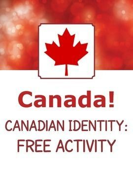 """Free activity from my """"Canada! Canadian Identity - 14 Readings Passages and Activities"""". Includes 8 discussion or writing prompts on the topic of what it means to be a Canadian.:"""