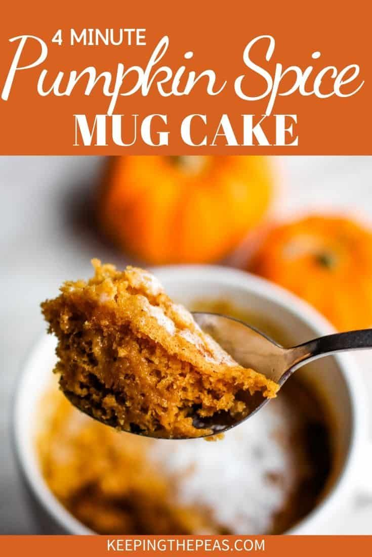 If You Have A Little Leftover Pumpkin Puree And You Re Wondering What On Earth You Can Do With It How A In 2020 Mug Cake Healthy Recipe Using Pumpkin Vegan Mug