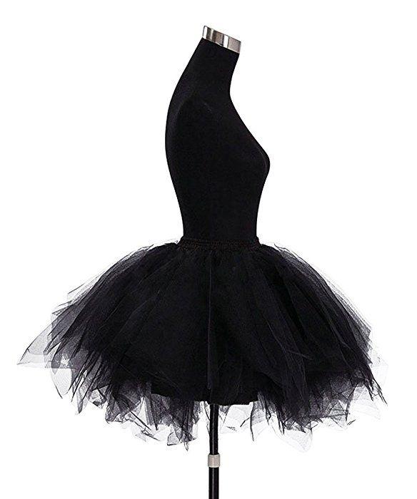 Broybuy Damen Kurz Retro Petticoat Rock Ballett Blase 50er Tutu Ball Kleid Mehrfarbengroß Unterröcke Grün