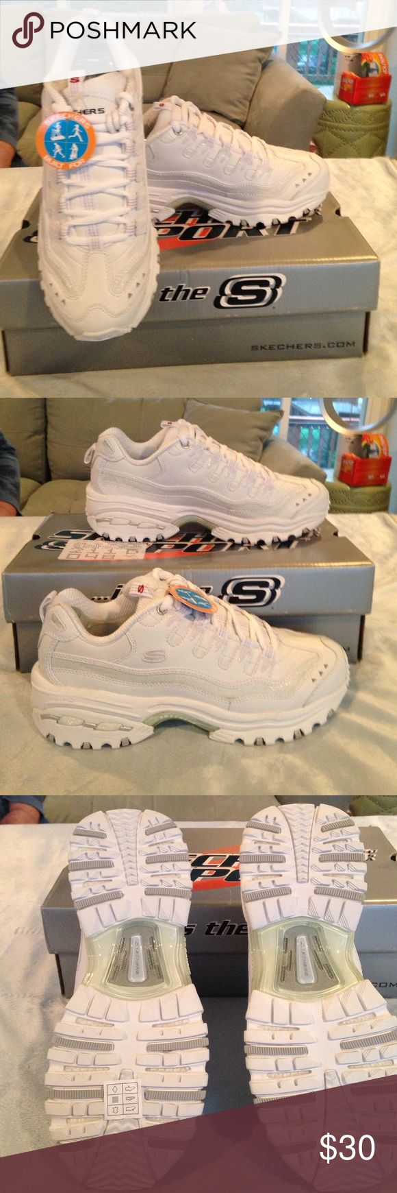 Skechers Sport Brand new white Skechers Sport sneakers with tags and box Skechers Shoes Sneakers
