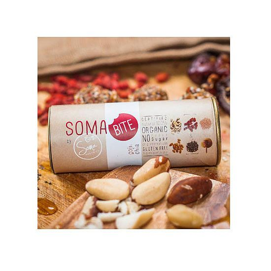 Soma Organics Goji & Chia Soma Bite Raw Balls, $6.50: The perfect snack to keep in your desk drawer. Stockists: Woolworths x