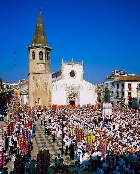 Tabuleiros festivities. Tomar, Portugal