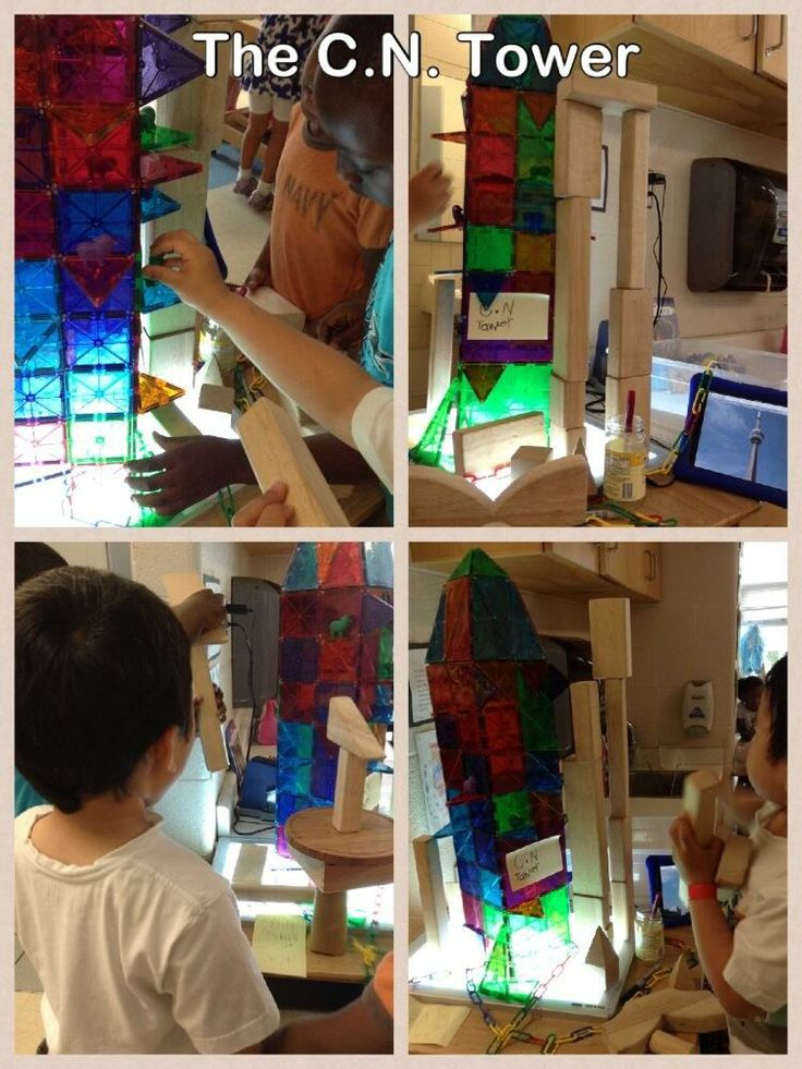 Created the C.N. Tower at the light table -using a photo of the CN Tower on the iPad-WOW