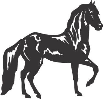 Силуэт лошади AG