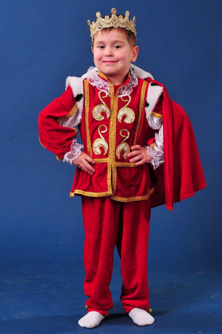 """""""Король с мантией """"Красный бархат"""" (средний)"""".  Рост: 116 - 122 см.    Сайт:) http://skazkindom.dp.ua"""