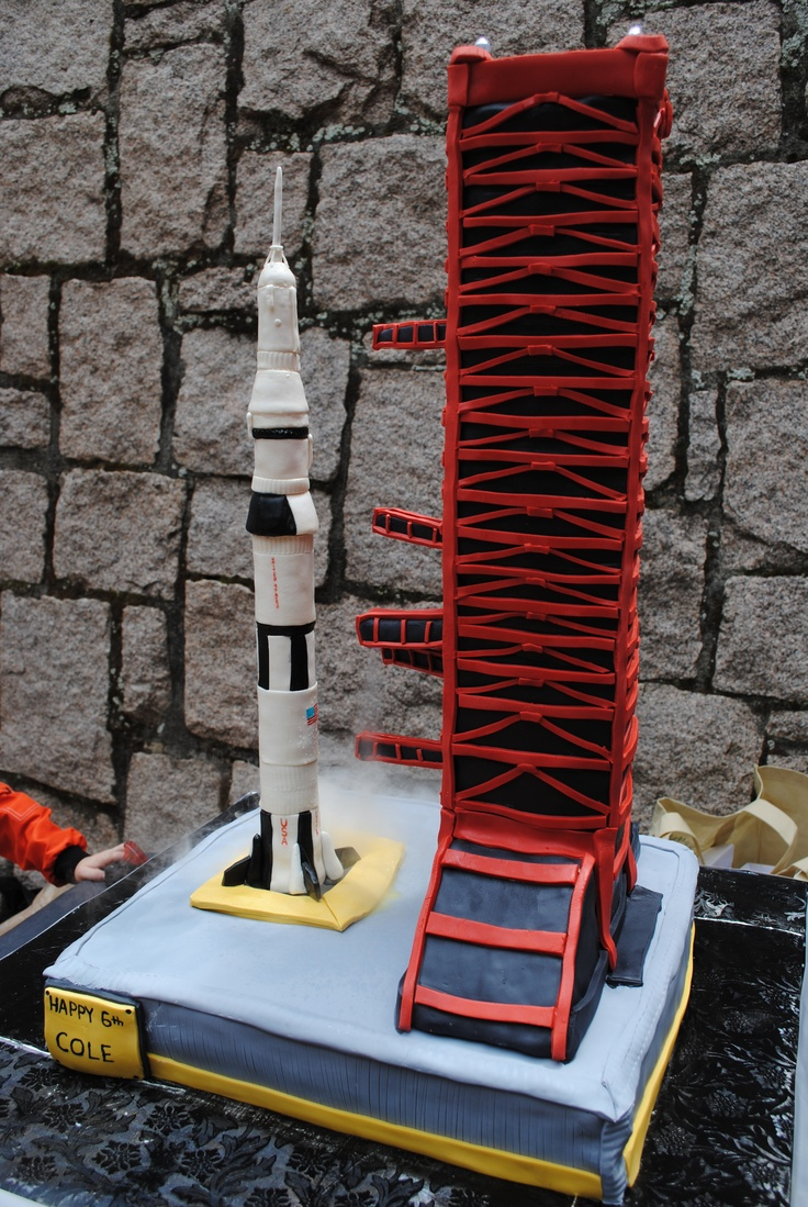 Saturn V Rocket And Launch Pad Cake Sweet Startt S Cakes