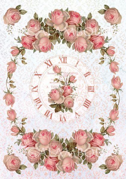 Shabby chic, Rose clock
