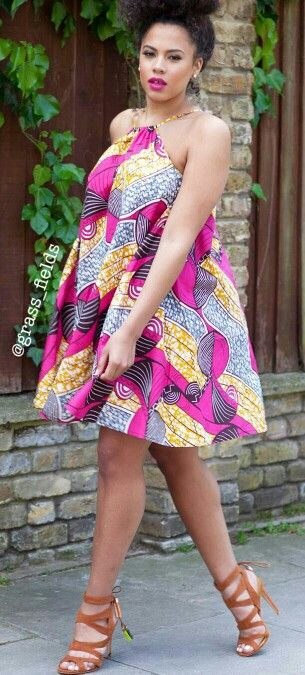 ♡The Loulou Dress www.grass-fields.com ~African fashion, Ankara, kitenge, African women dresses, African prints, African men's fashion, Nigerian style, Ghanaian fashion ~DKK