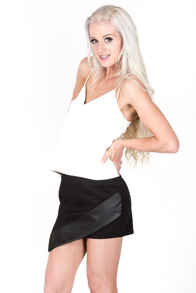 $39 Save My Tears Leatherette Top