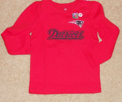 Toddler Girls Old Navy NFL New England Patriots T-Shirt Sz 4T Football